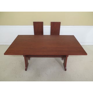 1990s Vintage Stickley Cherry Mission Style Cherry Dining Room Table Preview