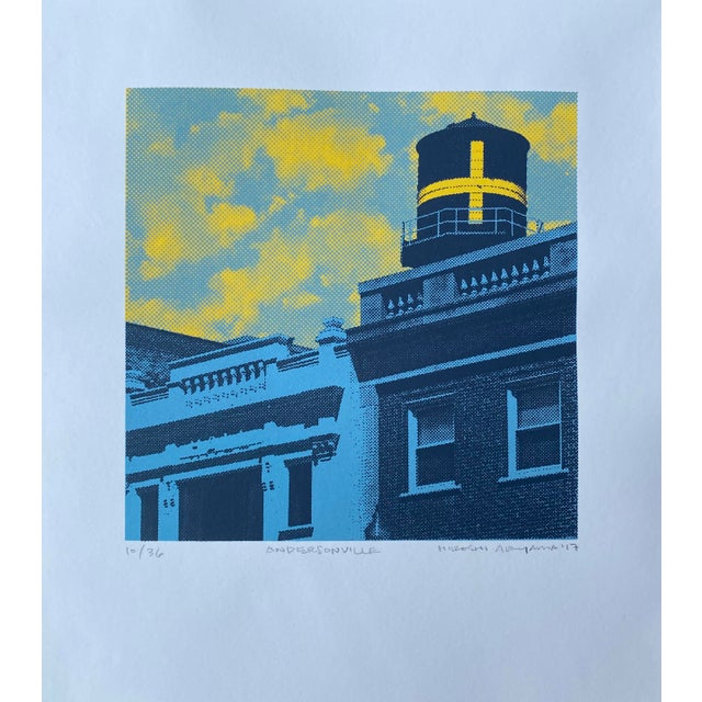 """Contemporary """"Andersonville"""" Contemporary Serigraph by Hiroshi Ariyama For Sale - Image 3 of 3"""