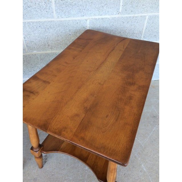 Cushman Colonial Maple End Tables - A Pair For Sale - Image 5 of 10