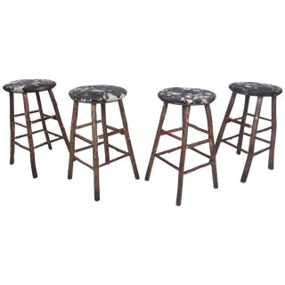 Rustic Barstools by Old Hickory - Set of 4 For Sale