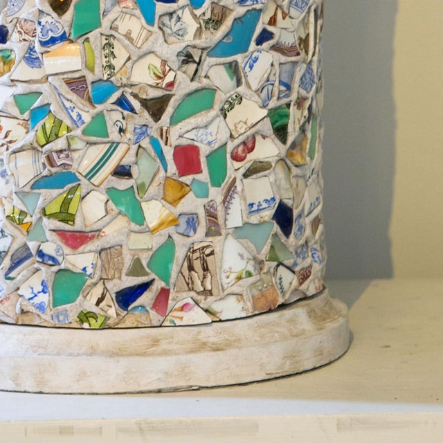 Mid 20th Century Wonderfully Unique Mosaic Lamp For Sale - Image 5 of 6