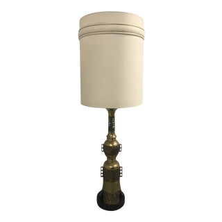 Bronze Chinese Motive Lamp For Sale
