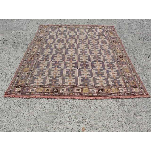 Vintage Turkish Kilim Rug - 6′5″ × 9′6″ - Image 2 of 11