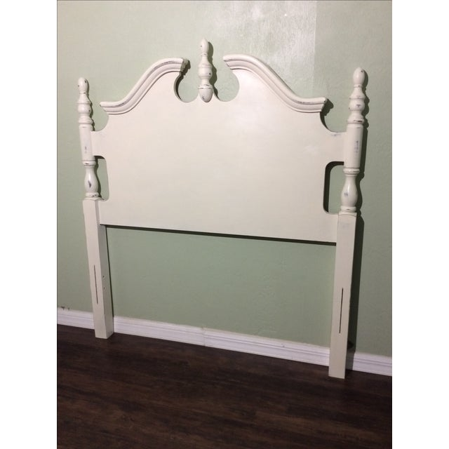 White Chalk Painted Twin Bed Frame - Image 3 of 6