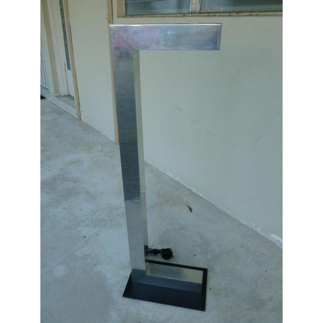 Kovacs 1970's Vintage Architectural Chromed Aluminum Floor Lamp For Sale - Image 4 of 7