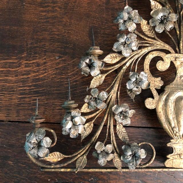 Metal 17th Century Italian Silver & Gold Gilt Metal 11 Light Candelabrum For Sale - Image 7 of 13
