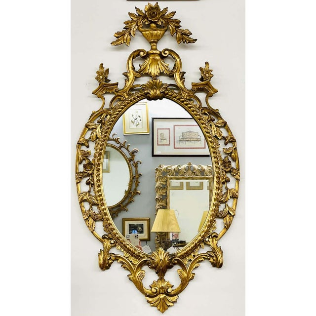 1960s Pair Gilt Wood Wall or Console Mirrors For Sale - Image 5 of 12