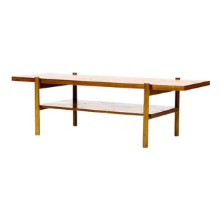 1960s Vintage Danish Modern Teak Coffee Table For Sale