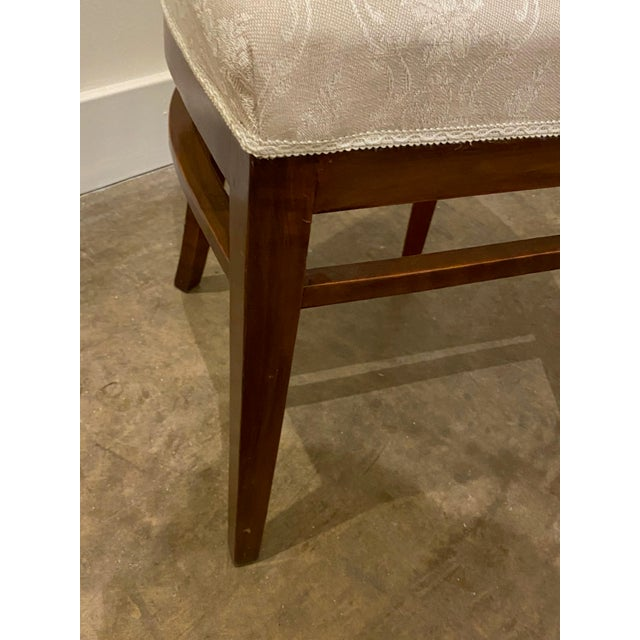 Wood Italian Walnut Tea Table and Chairs - 3 Pieces For Sale - Image 7 of 10