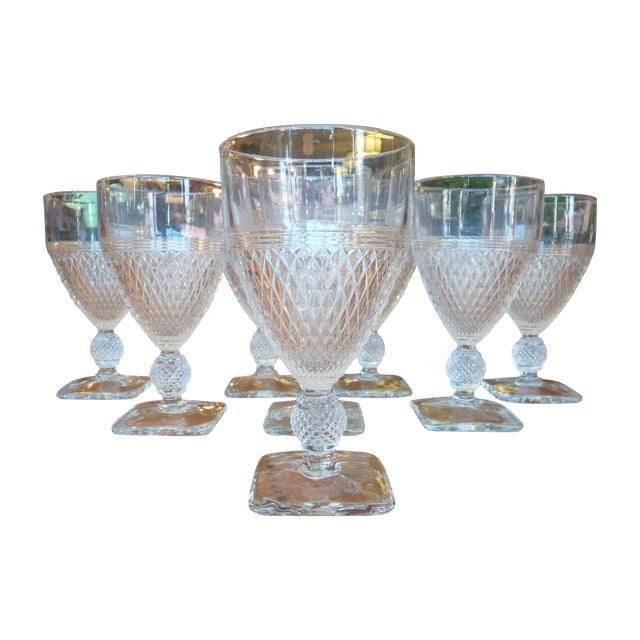 Pressed Glass Footed Goblets - Set of 8 - Image 1 of 8