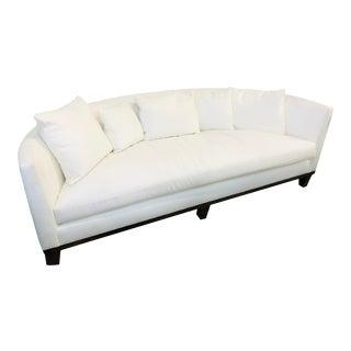 Barbara Barry White Duck Cotton Sofa For Sale