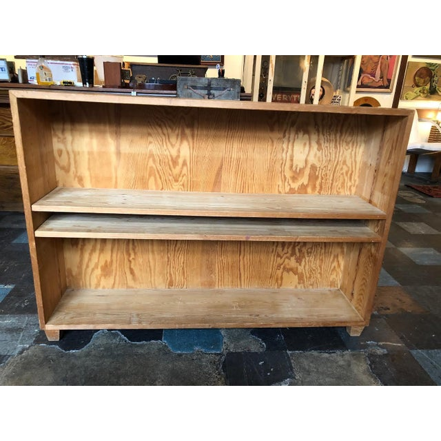 French Pine Bookshelf With Adjustable Shelves For Sale - Image 9 of 9