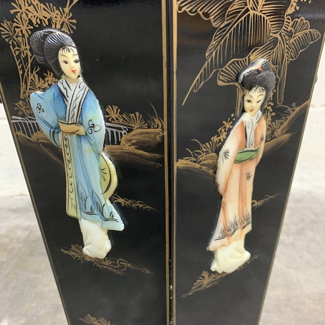 Hand Painted Chinese Soapstone Umbrella Stand For Sale In Richmond - Image 6 of 13