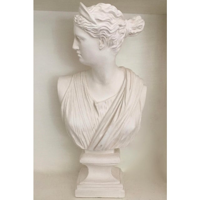 Neoclassical Bust of Diana the Huntress For Sale - Image 3 of 3