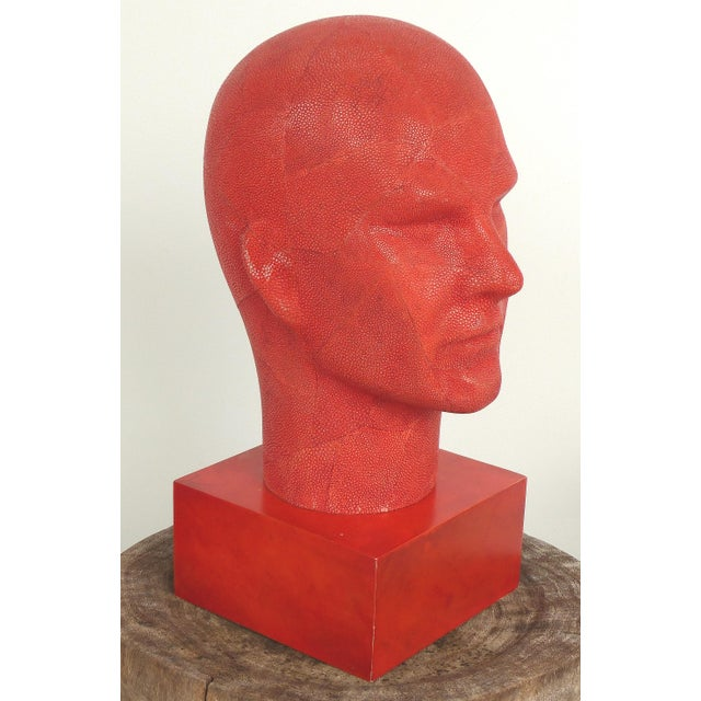 Serge De Troyer Shagreen Head Sculpture For Sale - Image 10 of 10