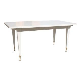 French Art Deco Mother-of-Pearl Finish Dining Table or Writing Desks Circa 1940s