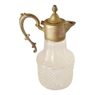 Vintage Silver Plated Hobnail Glass Claret