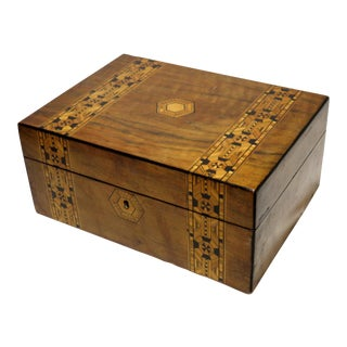Late 19th Century Antique Victorian Wood Box For Sale