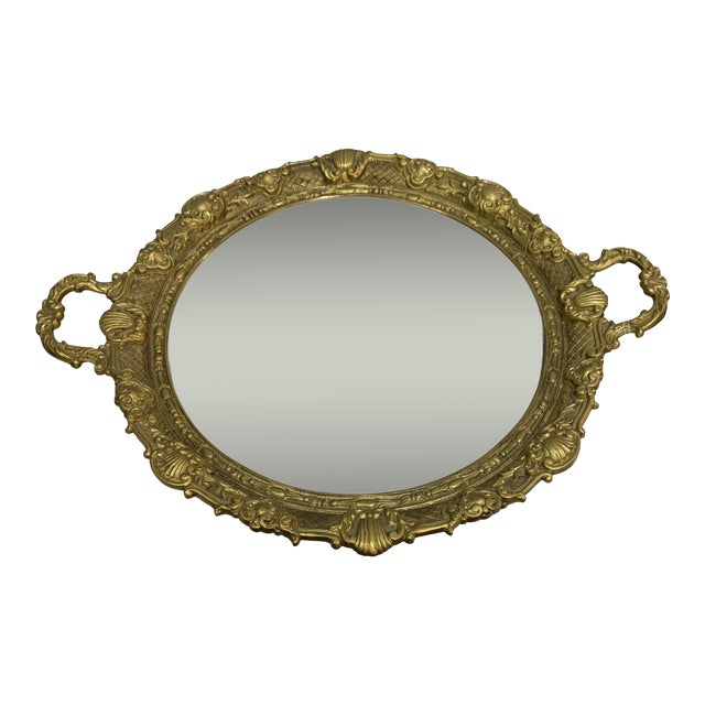 French Gilt Bronze Mirrored Tray For Sale