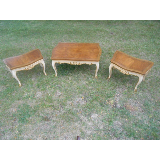 Baker Furniture French Regency Collector Series 3 Piece Coffee Table - Image 2 of 10