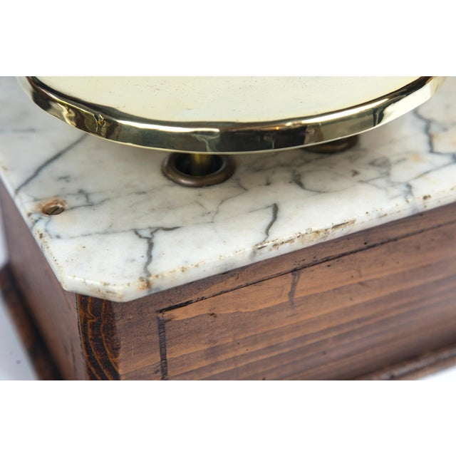Brown Marble Top Bakery Scale, France, Late 19th Century For Sale - Image 8 of 11