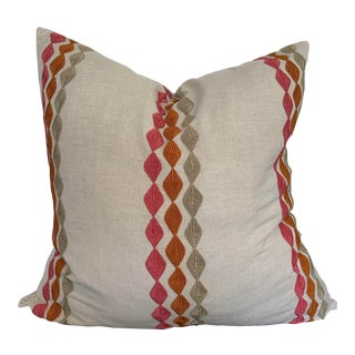 Highland Court Diamond Embroidery Linen Pillow Cover For Sale