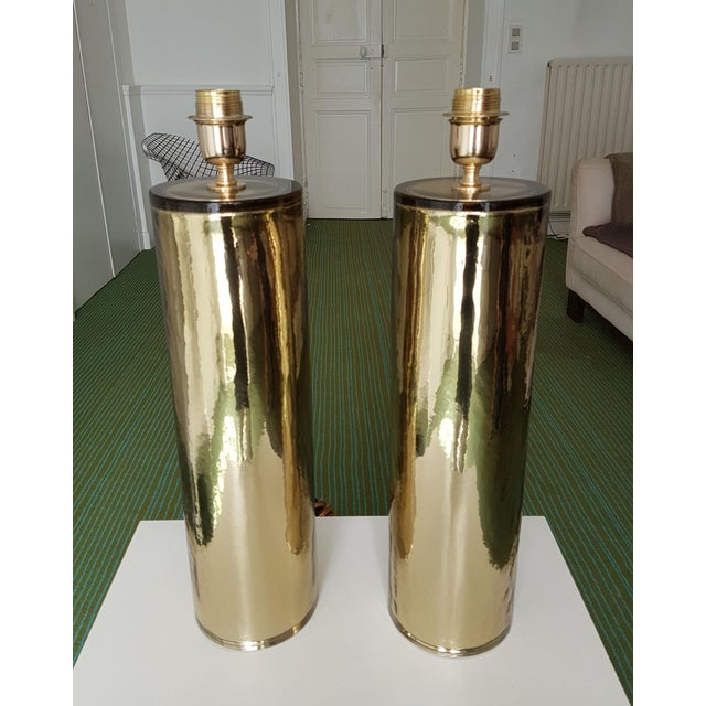 Cenedese Gold Murano Glass Table Lamps, Mid Century Modern, Cenedese Style - a Pair For Sale - Image 4 of 10