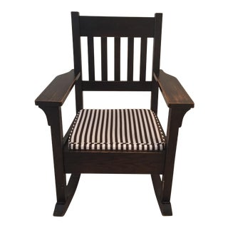 Mission Style Cushioned Rocking Chair