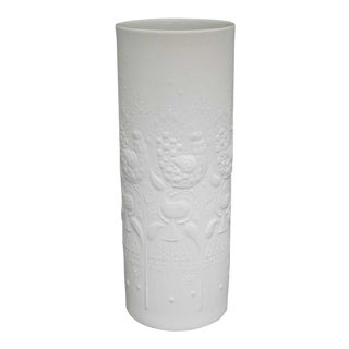20th Century Contemporary Bjorn Wiinblad White Ceramic Vase For Sale