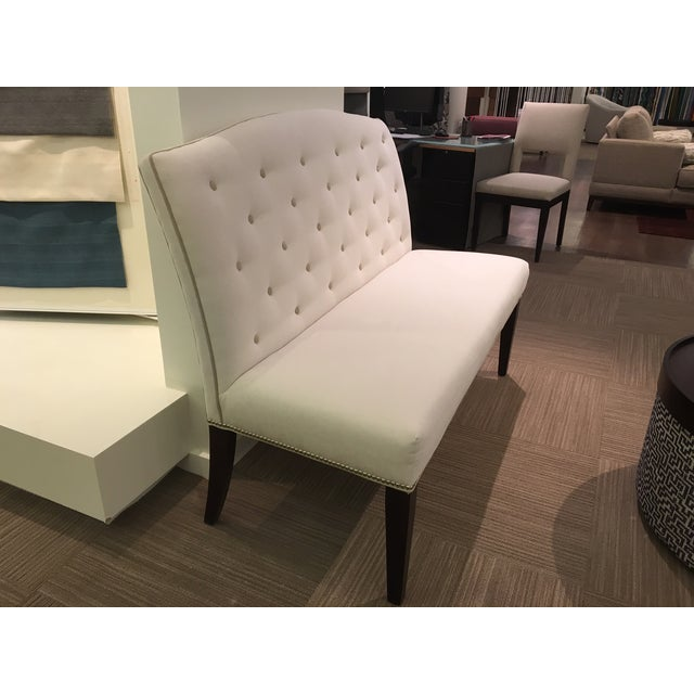 Buttoned Camel Back Banquette - Image 4 of 4