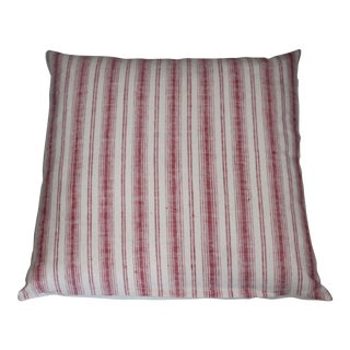 """Red and white Striped 22"""" pillow For Sale"""
