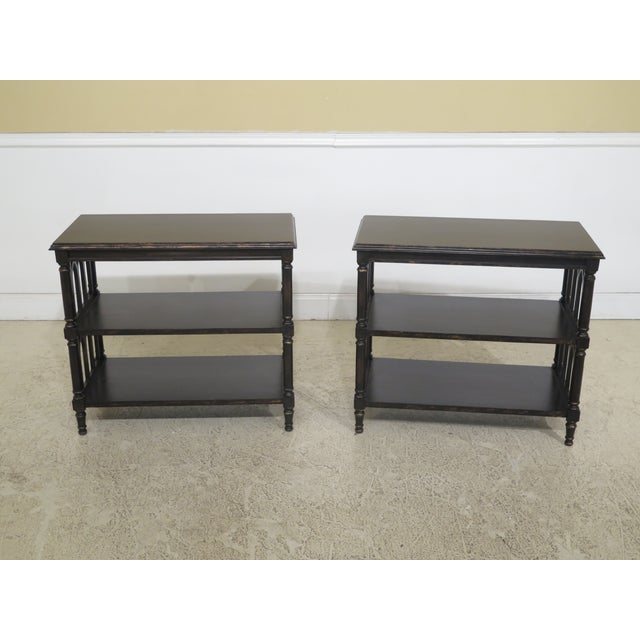 Traditional Paint Decorated Tiered Bookshelf End Tables - a Pair For Sale - Image 9 of 9
