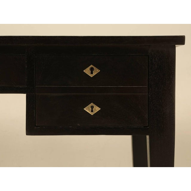 Late 19th Century Antique French Directoire Style Desk in an Ebonized Finish For Sale - Image 5 of 10