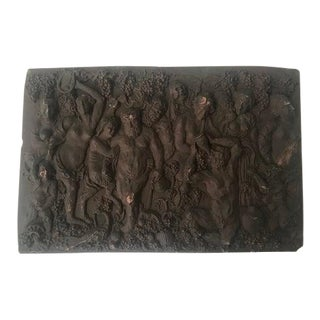 Copper Relief Sculpture Depicting Gluttony For Sale