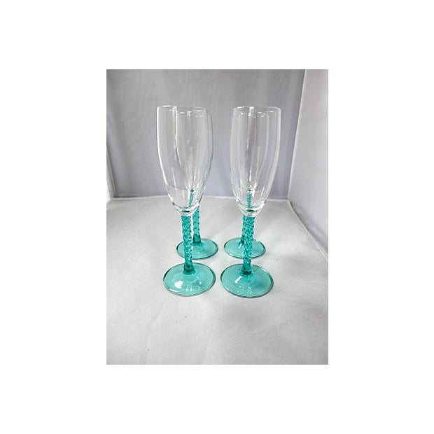 Blue Stem Champagnes Glasses - Set of 4 - Image 2 of 7