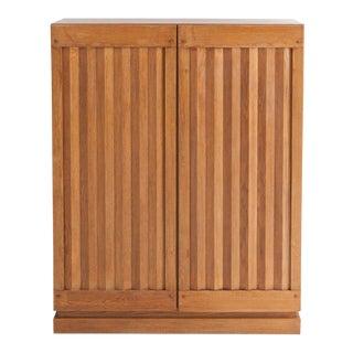 Minimalist Natural Oak Bar Cabinet For Sale