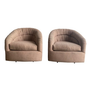 Pair of 1980s Barrel Chairs For Sale
