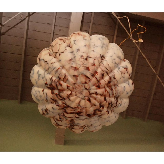 European Glass Bowl Pendant Fixture For Sale - Image 9 of 9