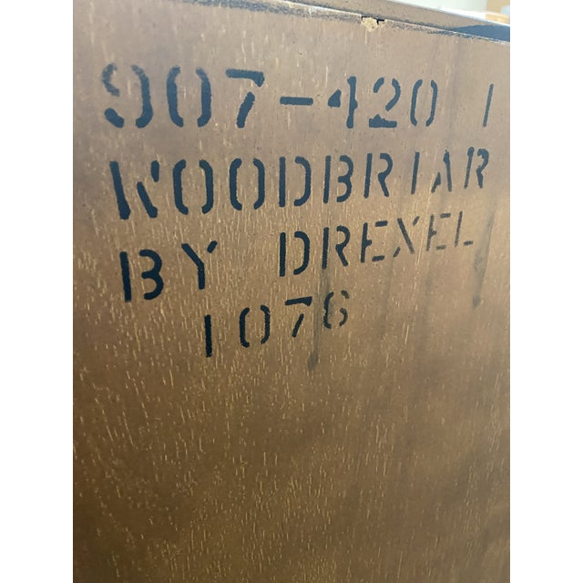 Drexel Heritage 1970's Drexel Heritage Woodbriar Collection Campaign Chest For Sale - Image 4 of 12
