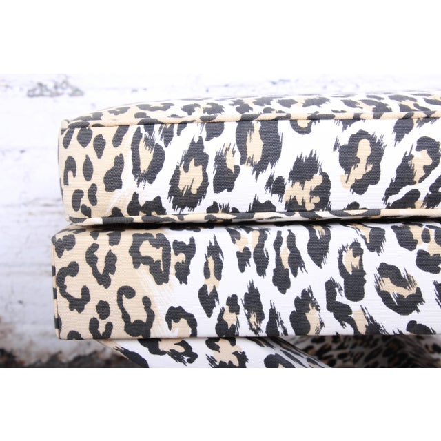 Patrick Frey X-Base Leopard Stool or Ottoman, Paris For Sale - Image 11 of 13