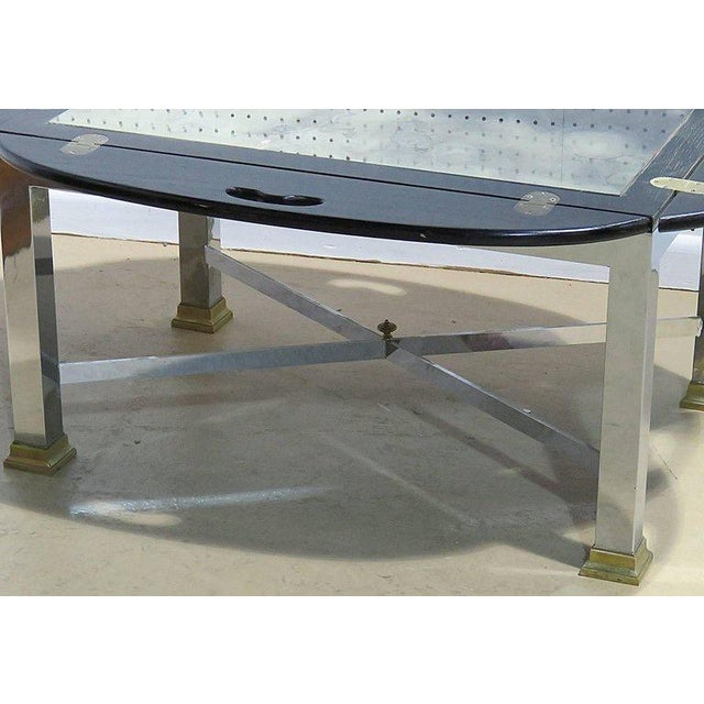 Hollywood Regency Mid Century Vintage Hollywood Regency Style Butler's Table For Sale - Image 3 of 7