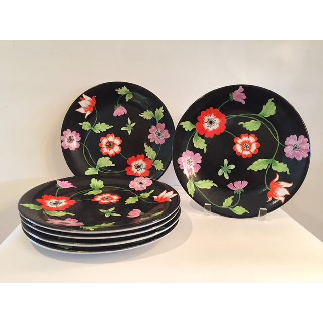 Ceramic Vintage Italian Hand-Painted Porcelain Plates - Set of 6 For Sale - Image 7 of 7