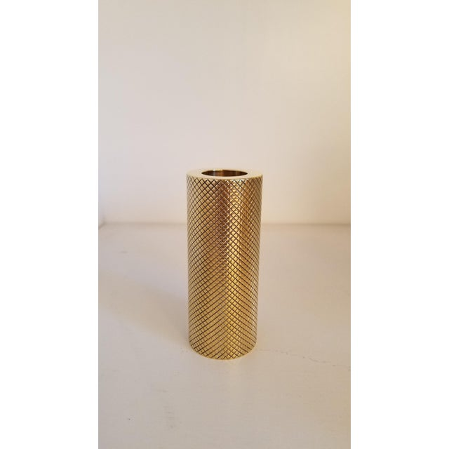 Set of brass candleholders Made in Italy. Ask for custom size and finishes. Available Now