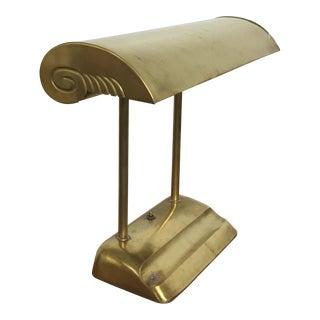 Miller Co. Vintage Industrial Streamline Fluorescent Brass Desk Lamp For Sale