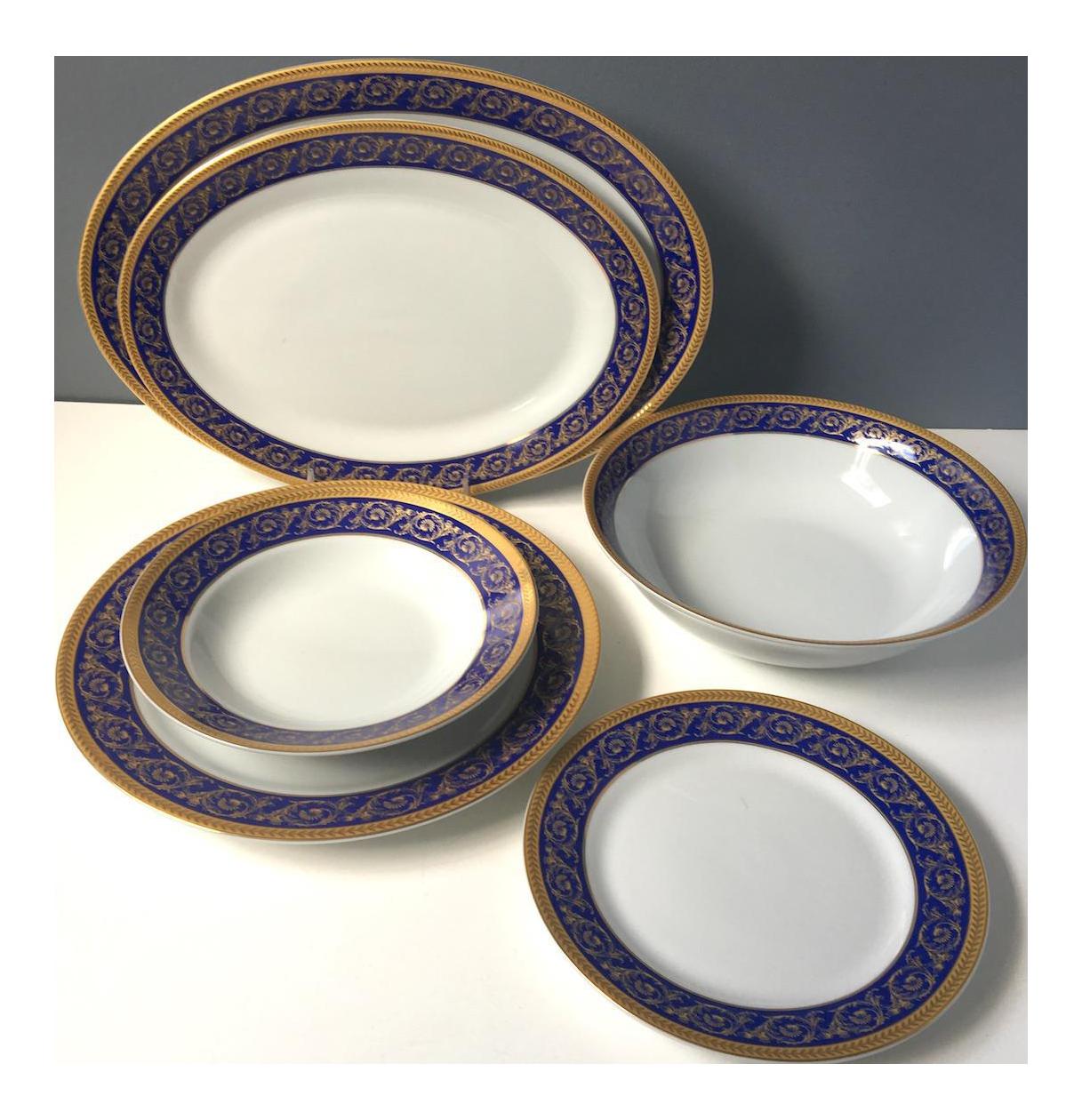 Sorelle Fine Porcelain Cobalt Blue and Gold Set for 8 Dinnerware (27 Pcs.)  sc 1 st  Chairish & Sorelle Fine Porcelain Cobalt Blue and Gold Set for 8 Dinnerware (27 Pcs.)