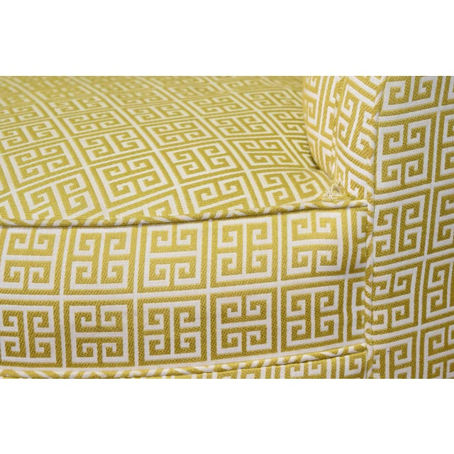 Textile Custom Kidney Shaped Sofa With Kravet Fabric For Sale - Image 7 of 12