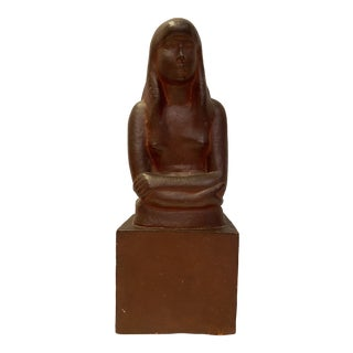 "Early 20th Century ""The Artist's Daughter"" Terra Cotta Sculpture Bust, Signed and Numbered by William Zorach For Sale"
