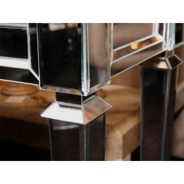 Modern Custom Mirrored Console Table For Sale - Image 3 of 8