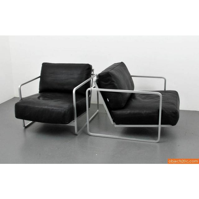 Pair of Zonatta Leather Lounge Chairs by Alfredo W. Häberli & Christophe Marchand - Image 5 of 8