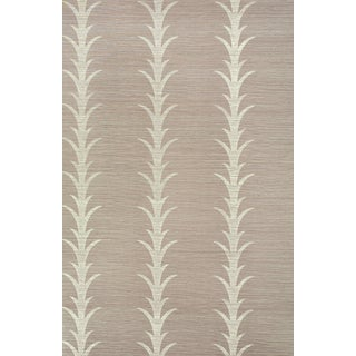 Schumacher X Celerie Kemble Acanthus Stripe Wallpaper in Haze For Sale